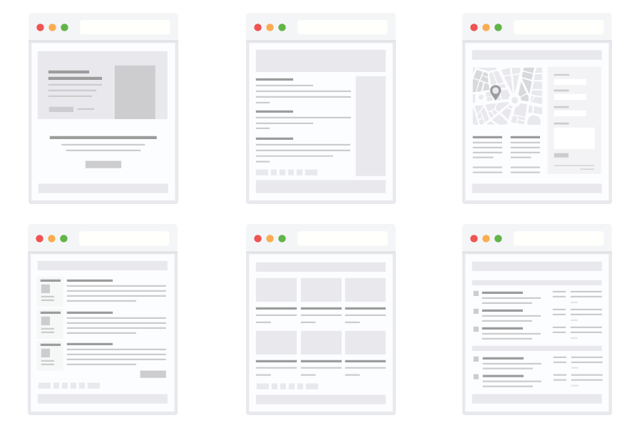 WordPress Design Wireframe